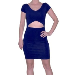 Topshop Cut Out Bodycon Dress
